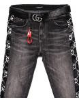 5231 Lolo Blues джинсы женские батальные серые с лампасами весенние стрейчевые (28-33, 6 ед.): артикул 1088291