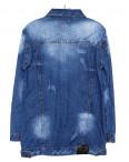 A 0207-9 Relucky куртка джинсовая женская батальная с царапками весенняя котоновая (L-5XL, 6 ед.) : артикул 1088418