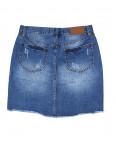 V 0030-12 Relucky юбка джинсовая батальная с царапками весенняя котоновая (28-33, 6 ед.): артикул 1088434