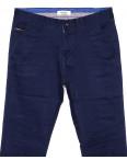 0671-1 Disvocas брюки мужские с косым карманом синие весенние стрейчевые (30-40, 8 ед.): артикул 1088510