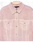 0136-3 (W136-3) Saint Wish куртка джинсовая женская розовая весенняя котоновая (S-L, 3 ед.): артикул 1088521