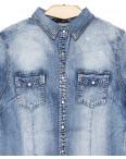 0141 (W141) Saint Wish рубашка джинсовая женская с камнями весенняя стрейчевая  (S-XL, 4 ед.): артикул 1088523