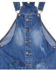 Y 0032-12 Relucky комбинезон - юбка джинсовый женский с рванкой весенний котоновый (25-30, 6 ед.): артикул 1088548