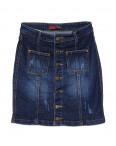 A 0404-4 Relucky юбка джинсовая с царапками весенняя стрейчевая (25-30, 6 ед.): артикул 1088565