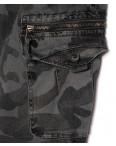 8919-5 серые Iteno джоггеры мужские с боковыми карманами серый камуфляж весенние стрейч-котон (29-38, 10 ед.): артикул 1088614