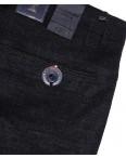 6016-1 Baron брюки мужские батальные черный меланж весенние стрейч-котон (32-38, 8 ед.): артикул 1088697
