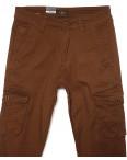 140064-X LS брюки мужские молодежные на манжете коричневые весенние стрейчевые (27-34, 8 ед.) : артикул 1088742