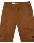 140066-X LS брюки мужские молодежные на манжете коричневые весенние стрейчевые (27-34, 8 ед.) : артикул 1088747