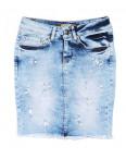 0771 Gucci юбка джинсовая с жемчугом стрейчевая (26,27,29, 3 ед.): артикул 1090960