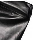 0608 черный X лосины кожаные с замочком весенние стрейчевые (42-46, 3 ед.): артикул 1089055