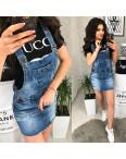 Y 0037-12 Relucky комбинезон - юбка джинсовый женский с рванкой весенний котоновый (25-30, 6 ед.): артикул 1088545