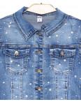 0840 X куртка джинсовая женская с жемчугом весенняя стрейчевая (XS-XL, 5 ед.): артикул 1089437