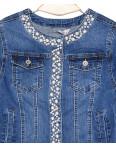 1197 Miss Curry куртка джинсовая женская с декоративной отделкой весенняя стрейчевая (XS-XL, 6 ед.): артикул 1089473