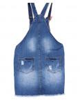Y 0035-12 Relucky комбинезон-юбка джинсовый с рванкой весенний котоновый (25-30, 6 ед.): артикул 1089622