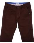 0672-31 Disvocas брюки мужские батальные коричневые весенние стрейчевые (32-36, 8 ед.): артикул 1089689