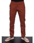 3407 DDKKS брюки мужские с косым карманом кирпичного цвета весенние стрейчевые (29-38, 8 ед.): артикул 1089588