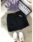 0033-15 Relucky юбка джинсовая черная с рванкой весенняя котоновая (25-30, 6 ед.): артикул 1089750