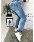 Джинсы женские на резинке с рванкой и царапками ( 2325 New jeans ): артикул 1090630