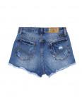 A 0023-12 Relucky шорты джинсовые женские с рванкой и царапками котоновые (25-30, 6 ед.): артикул 1090172