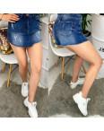 A 0102-9 Relucky шорты-юбка джинсовые с царапками стрейчевые (25-30, 6 ед.): артикул 1090328