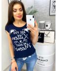 0001-1111 темно-синяя MMC футболка женская котоновая (S-XL, 4 ед.): артикул 1090332