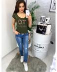 0122 хаки MMC футболка женская с принтом стрейчевая (S-XL, 4 ед.): артикул 1090355