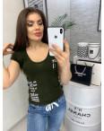 0116 хаки MMC футболка женская с принтом стрейчевая (S-XL, 4 ед.): артикул 1090343