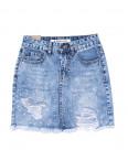 1058 M.Sara юбка джинсовая с жемчугом и рванкой котоновая (XS-XXL, 6 ед.): артикул 1090403