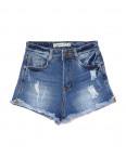 A 0067-10 Relucky шорты джинсовые женские с рванкой и царапками стрейчевые (25-30, 6 ед.): артикул 1090551