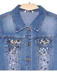 8837 Zijinyan куртка джинсовая женская батальная с жемчугом весенняя стрейч-котон (XL-6XL, 6 ед.): артикул 1090558