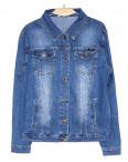8907 Zijinyan куртка джинсовая женская батальная весенняя стрейч-котон (4XL-9XL, 6 ед.): артикул 1090563