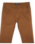 0132-5 Disvocas брюки мужские молодежные светло-коричневые весенние стрейчевые (28-36, 8 ед.): артикул 1090588