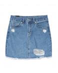 0057-3 (E57(3)) Ondi юбка джинсовая с рванкой котоновая (36-42, евро, 5 ед.): артикул 1090618