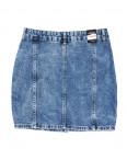0054 (E54) синяя Ondi юбка джинсовая на пуговицах котоновая (36-42, евро, 5 ед.): артикул 1090620