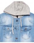 2019-2 In Yesir куртка джинсовая мужская комбинированная с капюшоном весенняя стрейчевая (S-XXL, 6 ед.): артикул 1090803