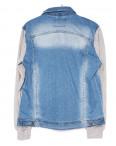 2013-3 In Yesir куртка джинсовая мужская комбинированная с капюшоном весенняя стрейчевая (S-XXL, 6 ед.): артикул 1090808