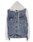2020-3 In Yesir куртка джинсовая мужская комбинированная с капюшоном весенняя котоновая (S-XXL, 6 ед.): артикул 1090814