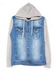 2019-1 In Yesir куртка джинсовая мужская комбинированная с капюшоном весенняя котоновая (S-XXL, 6 ед.): артикул 1090826