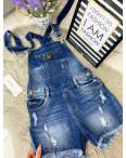 A 0019 Relucky комбинезон-шорты джинсовый женский с рванкой стрейчевый (25-30, 6 ед.): артикул 1090965