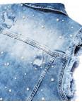 1095 синий Its Basic жилетка джинсовая женская с жемчугом весенняя стрейчевая (34-42, евро, 6 ед.): артикул 1091030