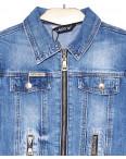 1285 Lady N куртка-болеро джинсовая женская на змейке весенняя котоновая (S-2XL, 6 ед.): артикул 1091044
