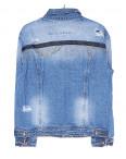 1281 Lady N куртка джинсовая женская с рванкой весенняя котоновая (S-2XL, 6 ед.): артикул 1091045