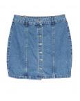 0054-2 (E54 (2)) Ondi юбка джинсовая на пуговицах котоновая (36-42, евро, 5 ед.): артикул 1091184