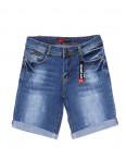 A 0570-15 Relucky шорты джинсовые женские батальные с царапками стрейчевые (28-33, 6 ед): артикул 1091216