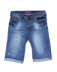 A 0576-15 Relucky шорты джинсовые женские батальные с царапками стрейчевые (31-38, 6 ед): артикул 1091236
