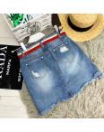 7073 New jeans юбка джинсовая с рванкой котоновая (25-30, 6 ед.): артикул 1091250