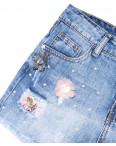7046 New jeans шорты джинсовые женские с рванкой котоновые (25-30, 6 ед.): артикул 1091288