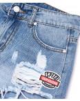 7038 New jeans шорты джинсовые женские с рванкой котоновые (25-30, 6 ед.): артикул 1091296