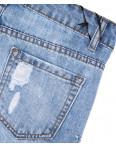 7057 New jeans шорты джинсовые женские с декоративной отделкой котоновые (25-30, 6 ед.): артикул 1091330