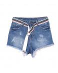 7066 New jeans шорты джинсовые женские с царапками котоновые (25-30, 6 ед.): артикул 1091339